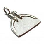 100% Real Silver Monofin Pendant