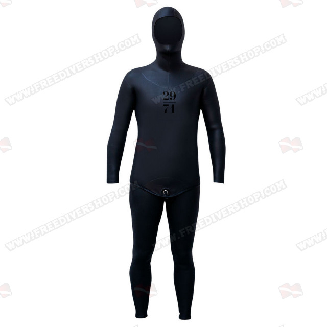 29/71 Depth Series Smoothskin Black - Tailor Made Wetsuit