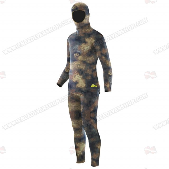 Elios Hyperstretch Beige Camouflage - Tailor Made Wetsuit