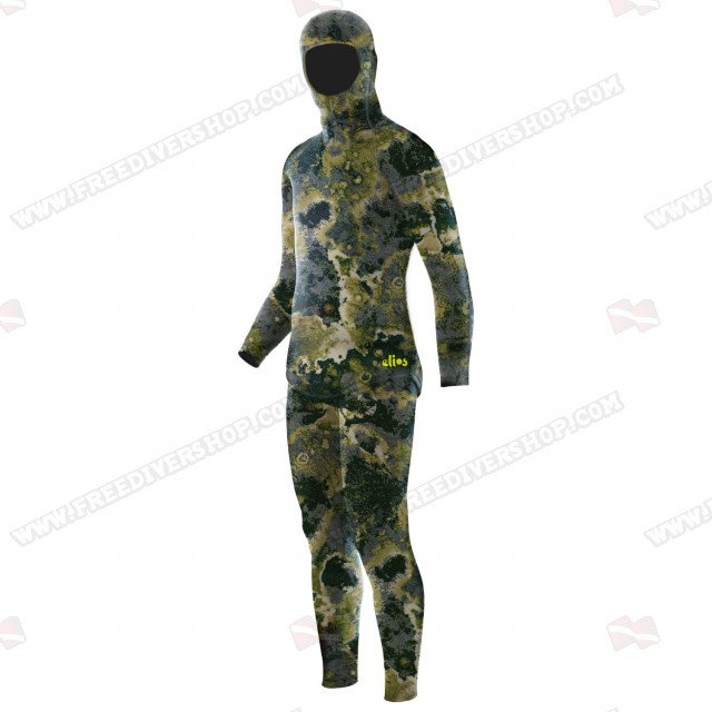 Elios Green Reef Camouflage Wetsuit