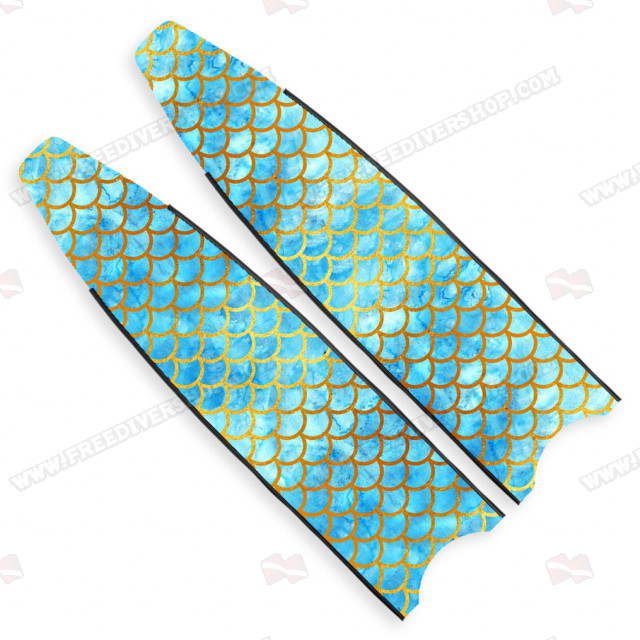 Leaderfins Neon Blue Mermaid Blades - Limited Edition