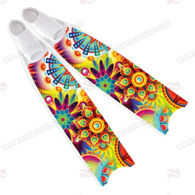 Leaderfins Neon Psychedelic Fins - Limited Edition