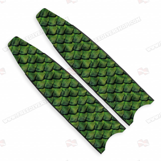Leaderfins Green Reptile Skin Blades - Limited Edition