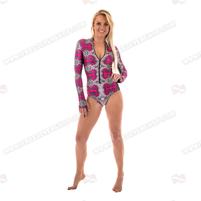 SlipIns Pink Nautilus Sun Protective Swimsuit