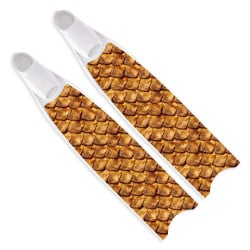Leaderfins Gold Reptile Skin Fins - Limited Edition