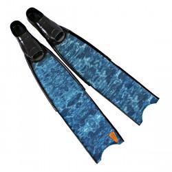 Leaderfins Pure Carbon Blue Camo Fins