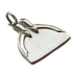 100% Silver Monofin Pendant