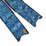Leaderfins Pure Carbon Blue Camo Fin Blades