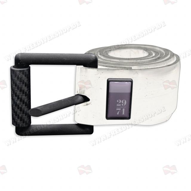 29/71 White Silicone Weight Belt