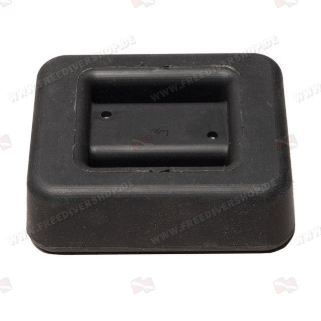 2 kg / 4.4 lbs Black Rubber Coated Belt Weight
