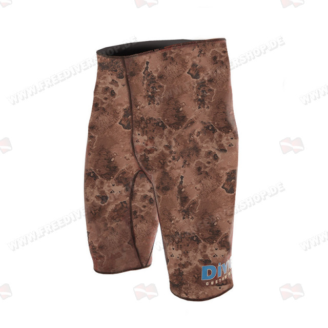 Divein Brown Camo Neoprene Bermuda Shorts