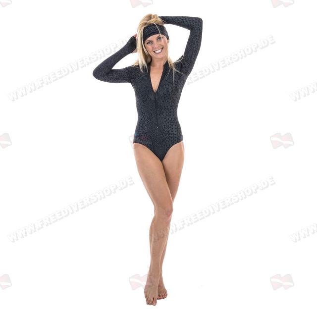 SlipIns Black Turtle Sun Protective Swimsuit