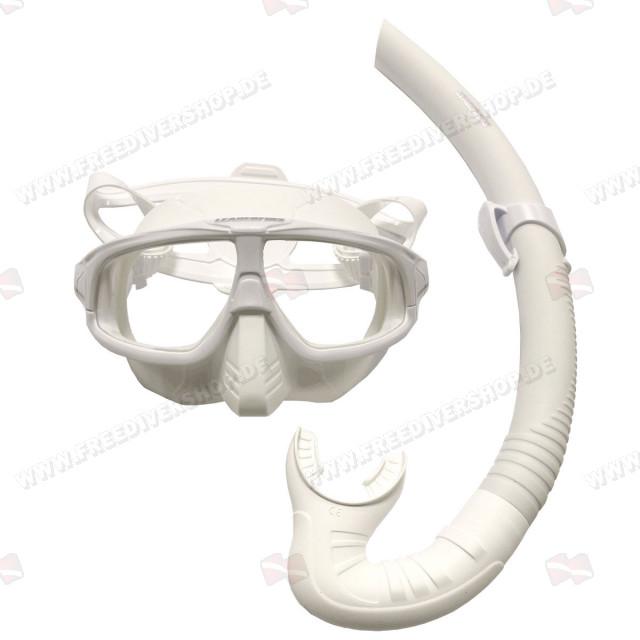 Leaderfins Hero Black Mask + Snorkel Set