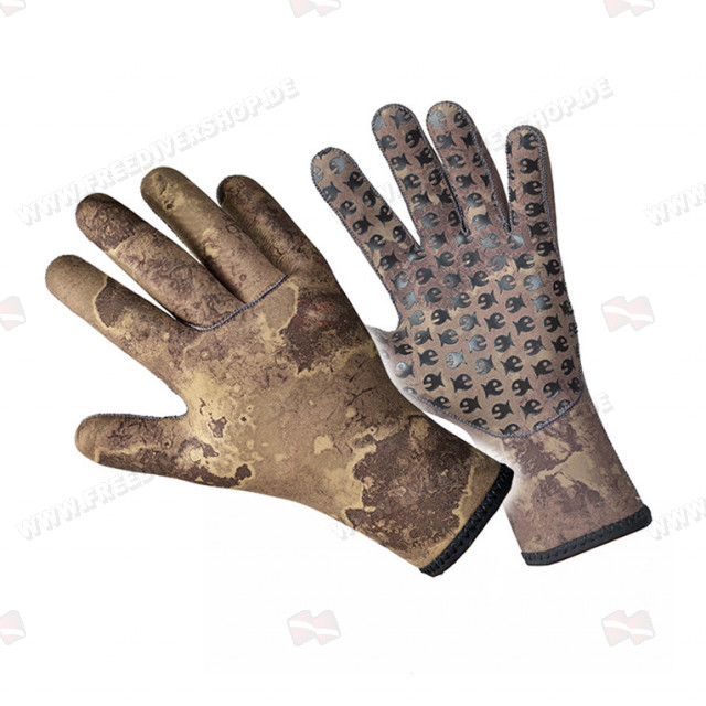 Divein Green Camo Neoprene Gloves