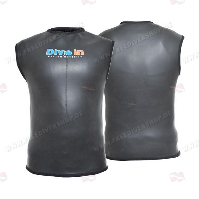 Divein Black Smoothskin Neoprene Dive Vest
