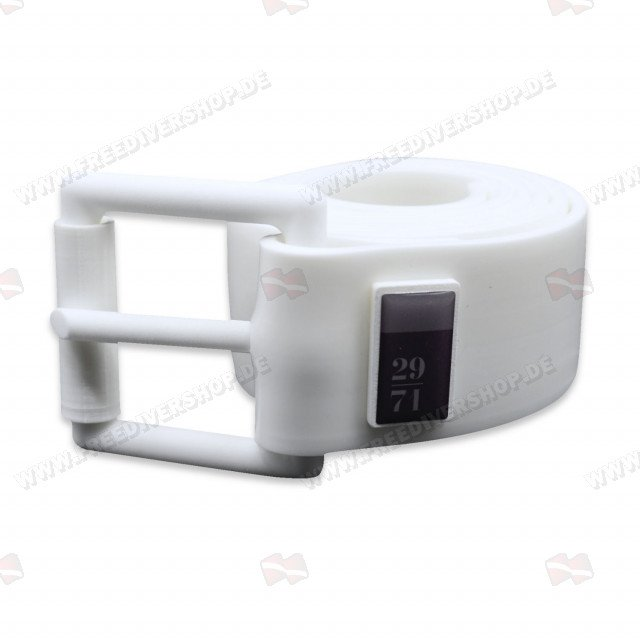 29/71 Pure White Silicone Weight Belt