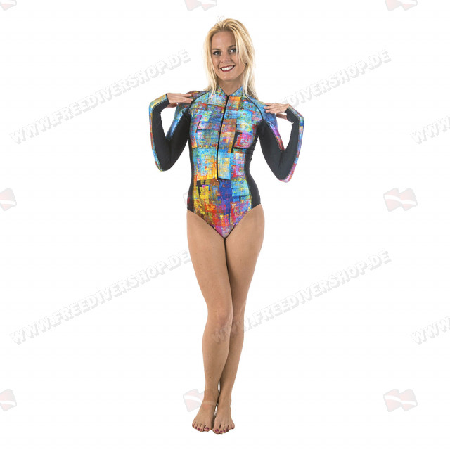 SlipIns Pixelated Sun Protective Swimsuit