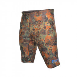 Divein Orange Camo Neoprene Bermuda Shorts
