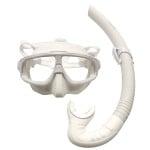 Leaderfins Hero White Mask + Snorkel Set