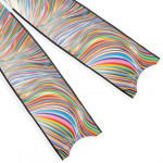 Leaderfins Neon Rainbow Blades - Limited Edition