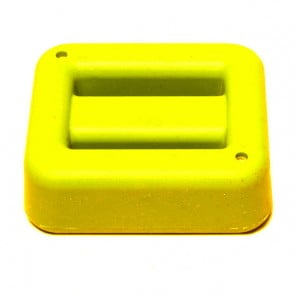1 kg / 2.2 lbs Yellow Rubber Coated Belt Weight